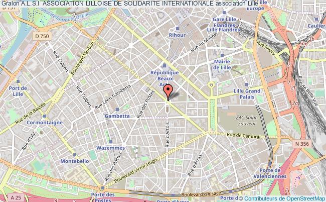 plan association A.l.s.i  Association Lilloise De Solidarite Internationale