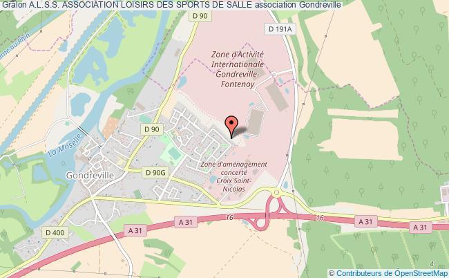 plan association A.l.s.s. Association Loisirs Des Sports De Salle