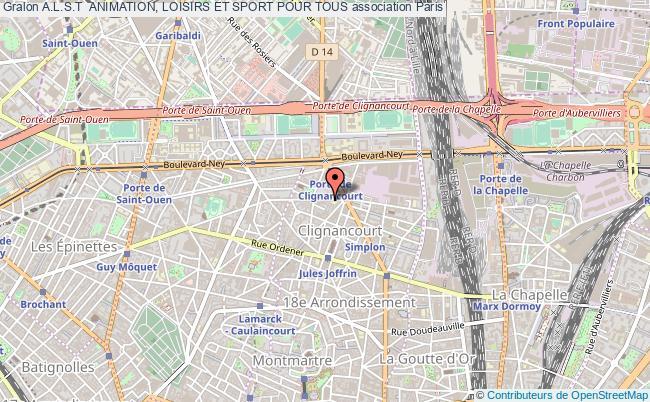 plan association A.l.s.t  Animation, Loisirs Et Sport Pour Tous