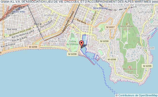 plan association A.l.v.a. 06 Association Lieu De Vie D'accueil Et D'accompagnement Des Alpes Maritimes Nice