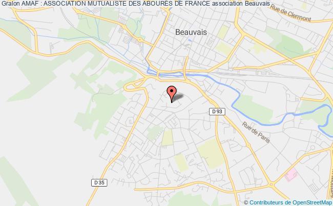plan association Amaf : Association Mutualiste Des AbourÉs De France Beauvais