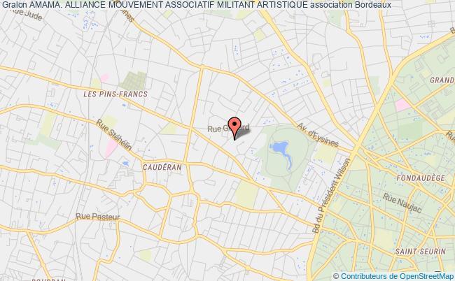 plan association Amama. Alliance Mouvement Associatif Militant Artistique