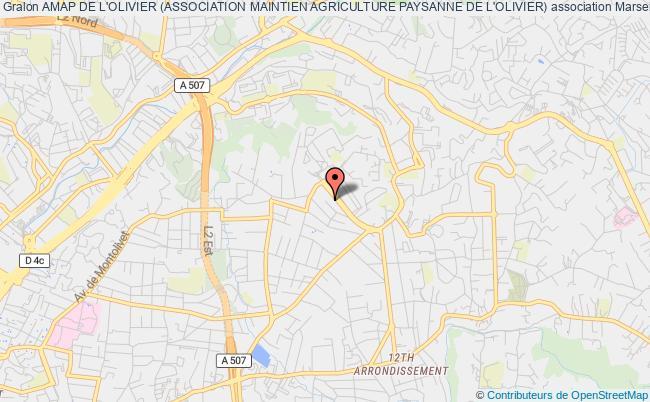 plan association Amap De L'olivier (association Maintien Agriculture Paysanne De L'olivier)