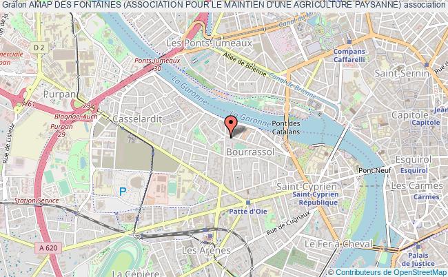 plan association Amap Des Fontaines (association Pour Le Maintien D'une Agriculture Paysanne)