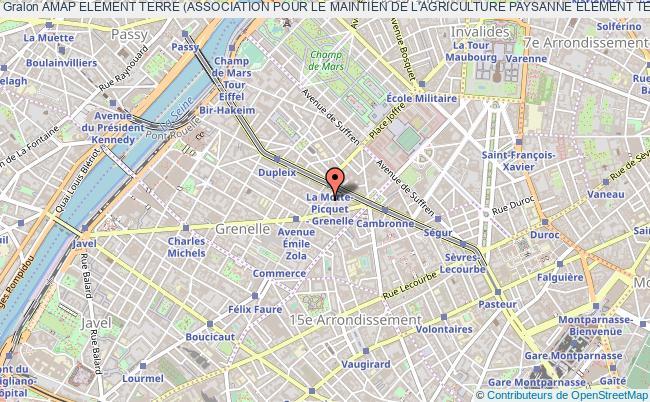 plan association Amap Element Terre (association Pour Le Maintien De L'agriculture Paysanne Element Terre) Paris