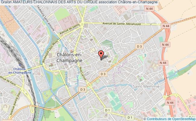 plan association Amateurs Chalonnais Des Arts Du Cirque