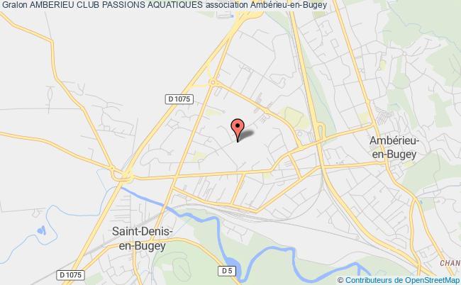 plan association Amberieu Club Passions Aquatiques Ambérieu-en-Bugey