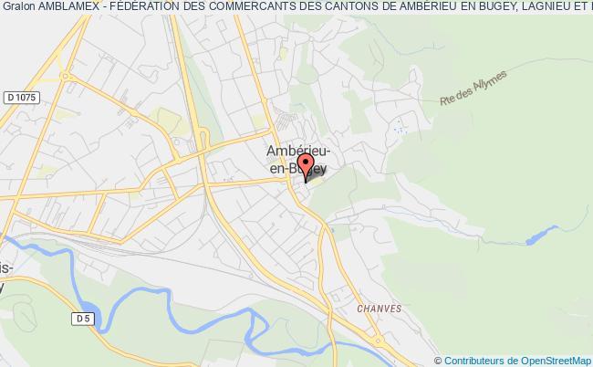 plan association Amblamex - FÉdÉration Des Commercants Des Cantons De AmbÉrieu En Bugey, Lagnieu Et Meximieux Ambérieu-en-Bugey