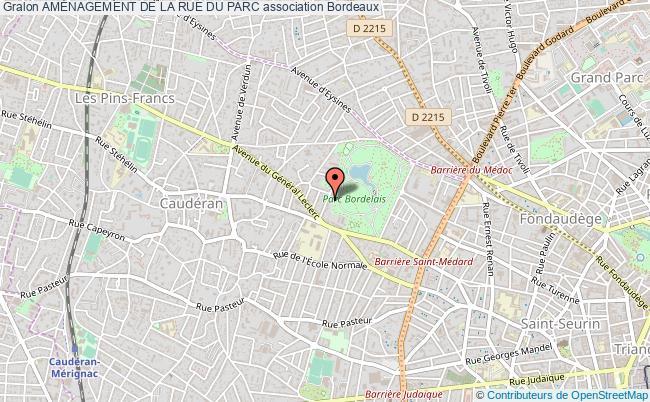 plan association AmÉnagement De La Rue Du Parc