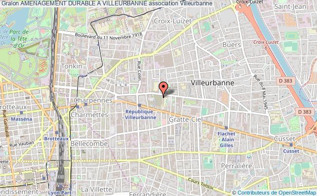 plan association Amenagement Durable A Villeurbanne