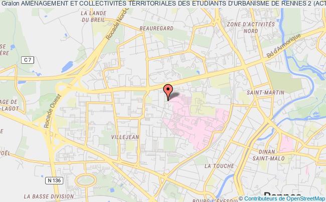 plan association AmÉnagement Et CollectivitÉs Territoriales Des Etudiants D'urbanisme De Rennes 2 (acteur)