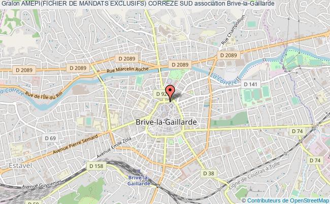 plan association Amepi(fichier De Mandats Exclusifs) Correze Sud