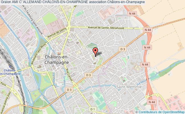 plan association Ami C' Allemand ChÂlons-en-champagne