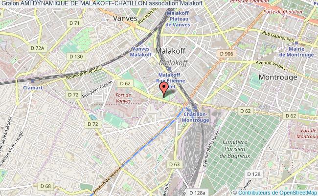 plan association Ami Dynamique De Malakoff-chatillon Malakoff