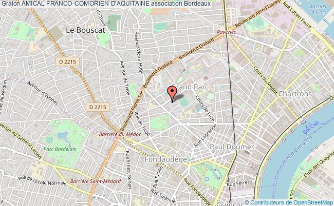 plan association Amical Franco-comorien D'aquitaine