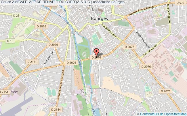 plan association Amicale  Alpine Renault Du Cher (a.a.r.c.) Bourges
