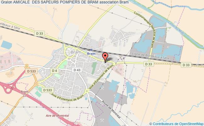 plan association Amicale  Des Sapeurs Pompiers De Bram