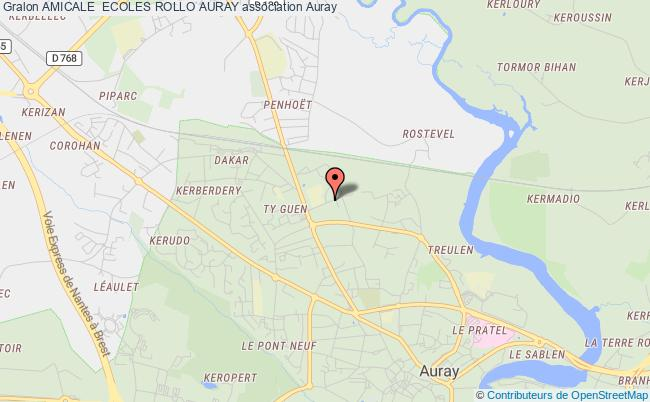 plan association Amicale  Ecoles Rollo Auray