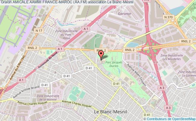 plan association Amicale Aammi France-maroc (aa.fm) Le    Blanc-Mesnil