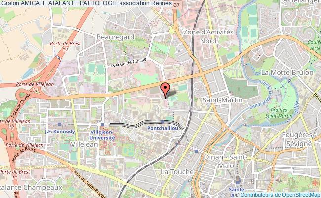 plan association Amicale Atalante Pathologie Rennes