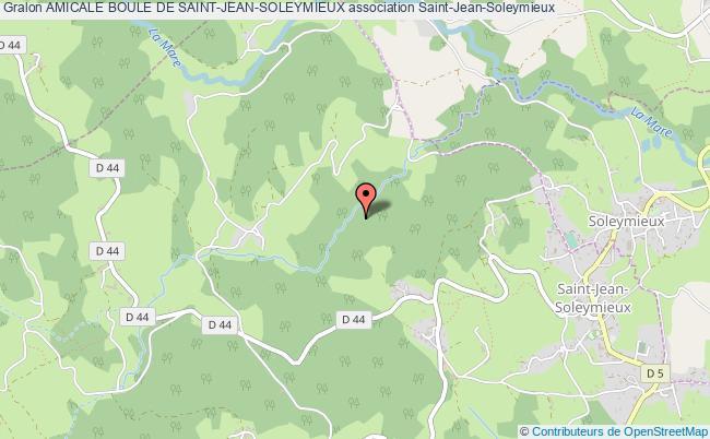plan association Amicale Boule De Saint-jean-soleymieux Saint-Jean-Soleymieux