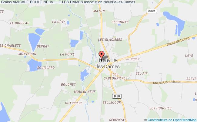 plan association Amicale Boule Neuville Les Dames Neuville-les-Dames