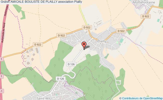 plan association Amicale Bouliste De Plailly Plailly