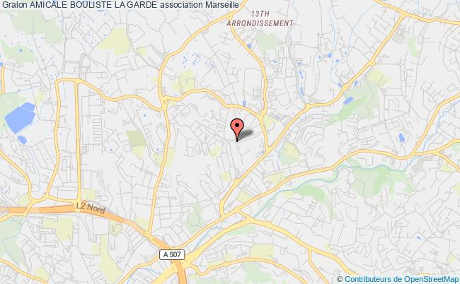plan association Amicale Bouliste La Garde