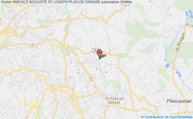 plan association Amicale Bouliste St Joseph Plan De Grasse