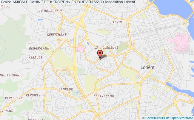 plan association Amicale Canine De Kergrenn En Queven 56530 Lorient