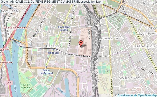 plan association Amicale Ccl Du 7Ème RÉgiment Du MatÉriel