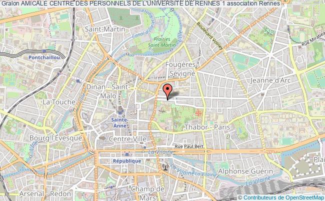 plan association Amicale Centre Des Personnels De L'universite De Rennes 1 Rennes