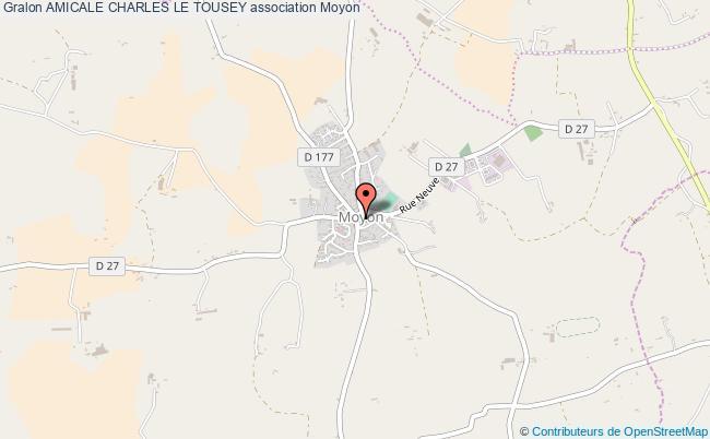 plan association Amicale Charles Le Tousey Moyon