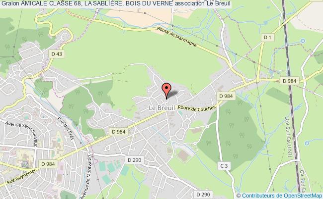 plan association Amicale Classe 68, La Sabliere, Bois Du Verne