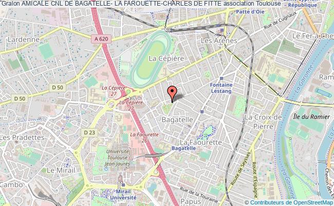 plan association Amicale Cnl De Bagatelle- La Farouette-charles De Fitte