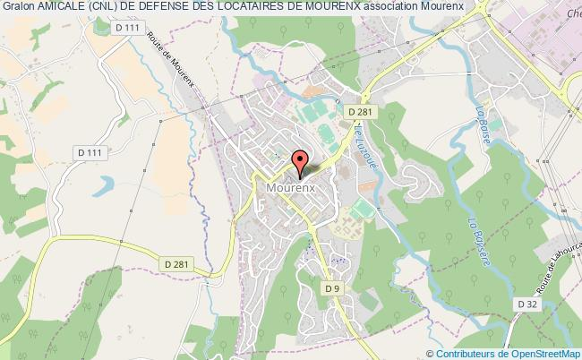 plan association Amicale (cnl) De Defense Des Locataires De Mourenx
