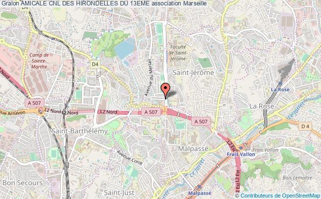 plan association Amicale Cnl Des Hirondelles Du 13eme