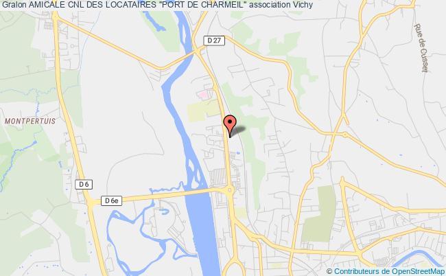 """plan association Amicale Cnl Des Locataires """"port De Charmeil"""""""