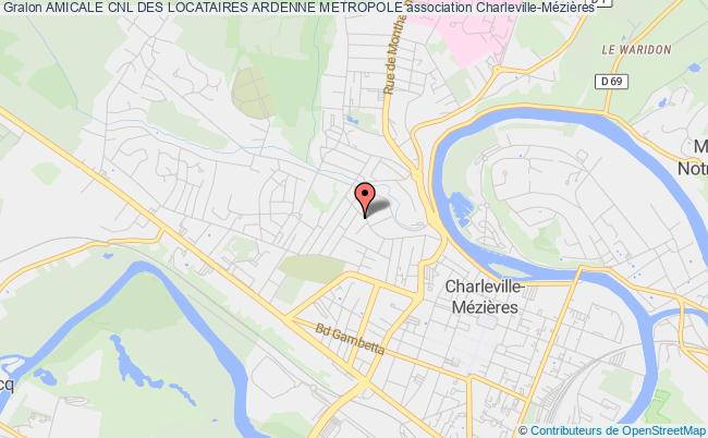 plan association Amicale Cnl Des Locataires Ardenne Metropole