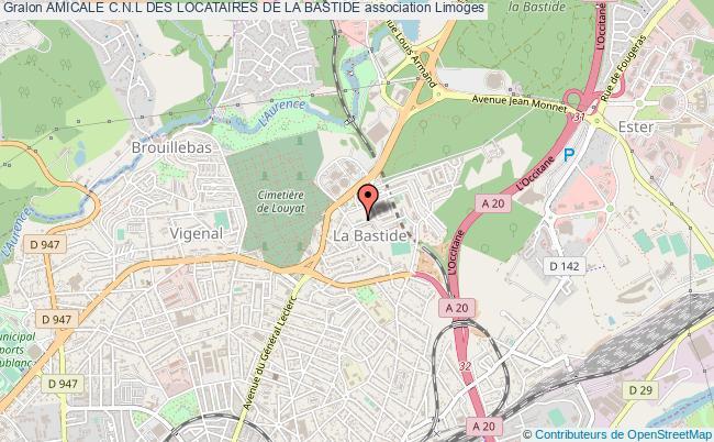plan association Amicale C.n.l Des Locataires De La Bastide
