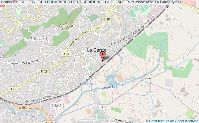 plan association Amicale Cnl Des Locataires De La Residence Paul Langevin