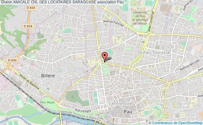 plan association Amicale Cnl Des Locataires Saragosse
