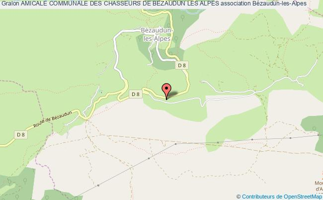 plan association Amicale Communale Des Chasseurs De Bezaudun Les Alpes Bézaudun-les-Alpes