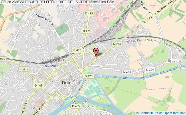 plan association Amicale Culturelle Doloise De La Cfdt Dole