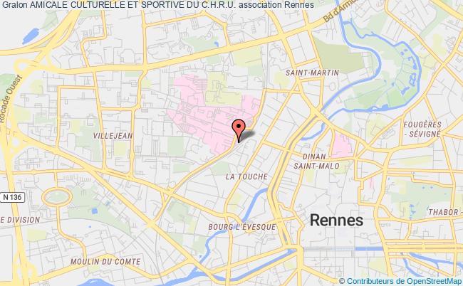 plan association Amicale Culturelle Et Sportive Du C.h.r.u. Rennes