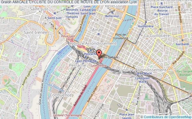 plan association Amicale Cycliste Du Controle De Route De Lyon