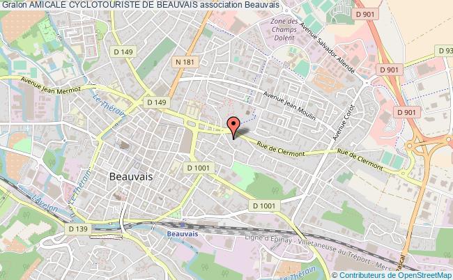 plan association Amicale Cyclotouriste De Beauvais Beauvais