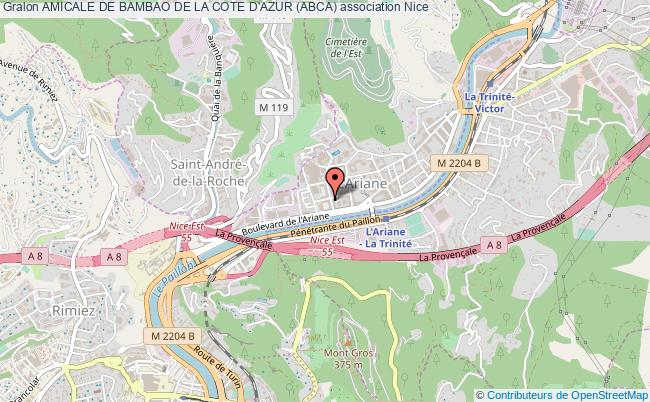 plan association Amicale De Bambao De La Cote D'azur (abca) Nice