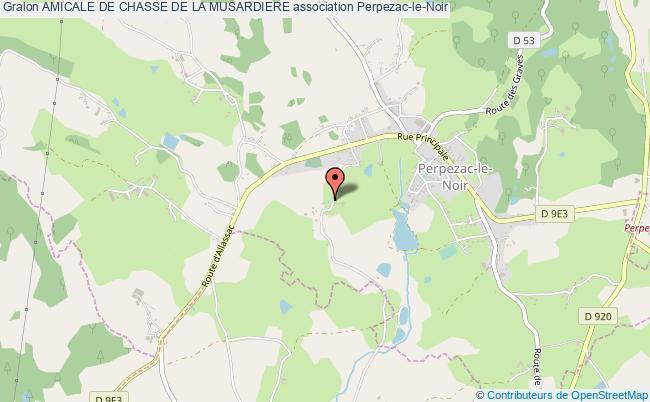 plan association Amicale De Chasse De La Musardiere