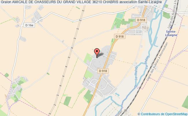 plan association Amicale De Chasseurs Du Grand Village 36210 Chabris Sainte-Lizaigne